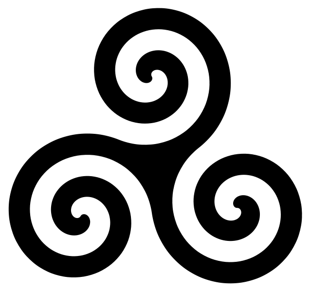 ... symbol closely related to the triquetra it is a tripartite symbol